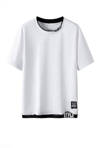 Twenty Eight Shoes white VANSA Fashion Short Sleeve Tee Shirt VCM-T2170 63591AAC34A588GS_1