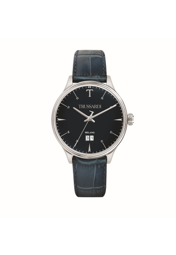 Trussardi blue Trussardi T-Complicity Blue Leather Men's Watches R2451130001 DA506AC903307FGS_1