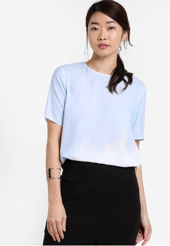 ZALORA blue Collection Printed Oversized Tee 28305AA9058AF5GS_1
