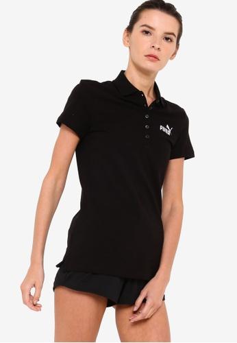 PUMA black Essentials Women's Polo Shirt 009DDAA170C411GS_1