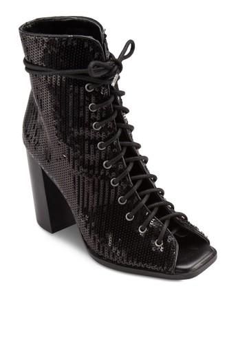 閃飾露趾esprit 台北粗跟高筒踝靴, 韓系時尚, 梳妝
