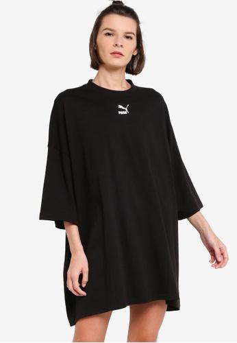 PUMA black Classics Women's Tee Dress 64CDFAA743451BGS_1