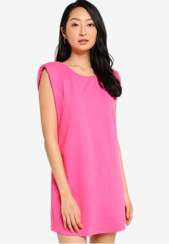 ZALORA BASICS pink Shoulder Pad Dress 971E7AA57AEABBGS_1