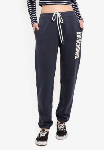 Abercrombie & Fitch navy Long Life Logo Pants 1C1A4AA1FA386BGS_1