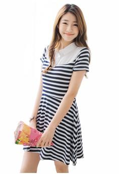 Intellectually Preppy Stripes Dress