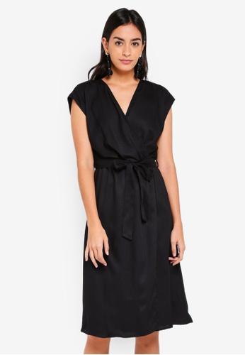 Vero Moda black Ally Short Sleeve Dress E6F45AA94BC528GS_1