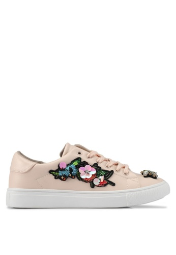 addicts anonymous beige Zoey Bug And Flower Sneakers AD479SH0SVKXMY_1