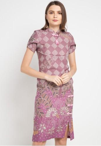 Batik Putra Bengawan pink and multi Dress Db P Oriza Flw Vl Pb 200E6AAB9E4CAEGS_1
