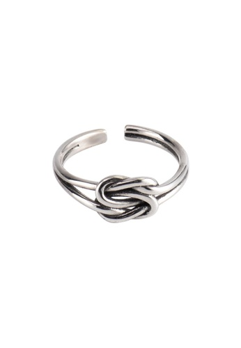 A-Excellence silver Premium S925 Sliver Knotted Ring 98BBFAC4AD2F6BGS_1