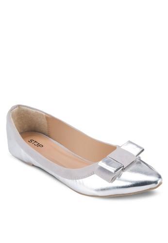 蝴蝶結亮面平底鞋, 女esprit outlet 桃園鞋, 芭蕾平底鞋