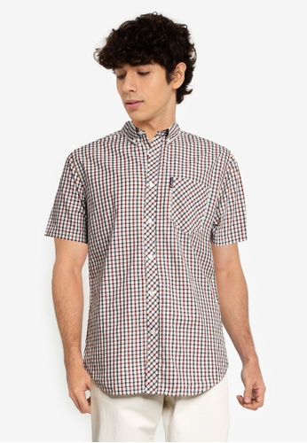 Ben Sherman red Signature House Check 0A9FAAA337D35DGS_1
