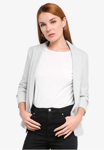 H&M grey Shawl Collar Blazer 29251AAC873D74GS_1