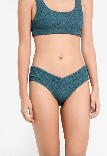 Cotton On Body green Crinkle Wrap Hipster Cheeky Bikini Bottom E21E0US632E660GS_1