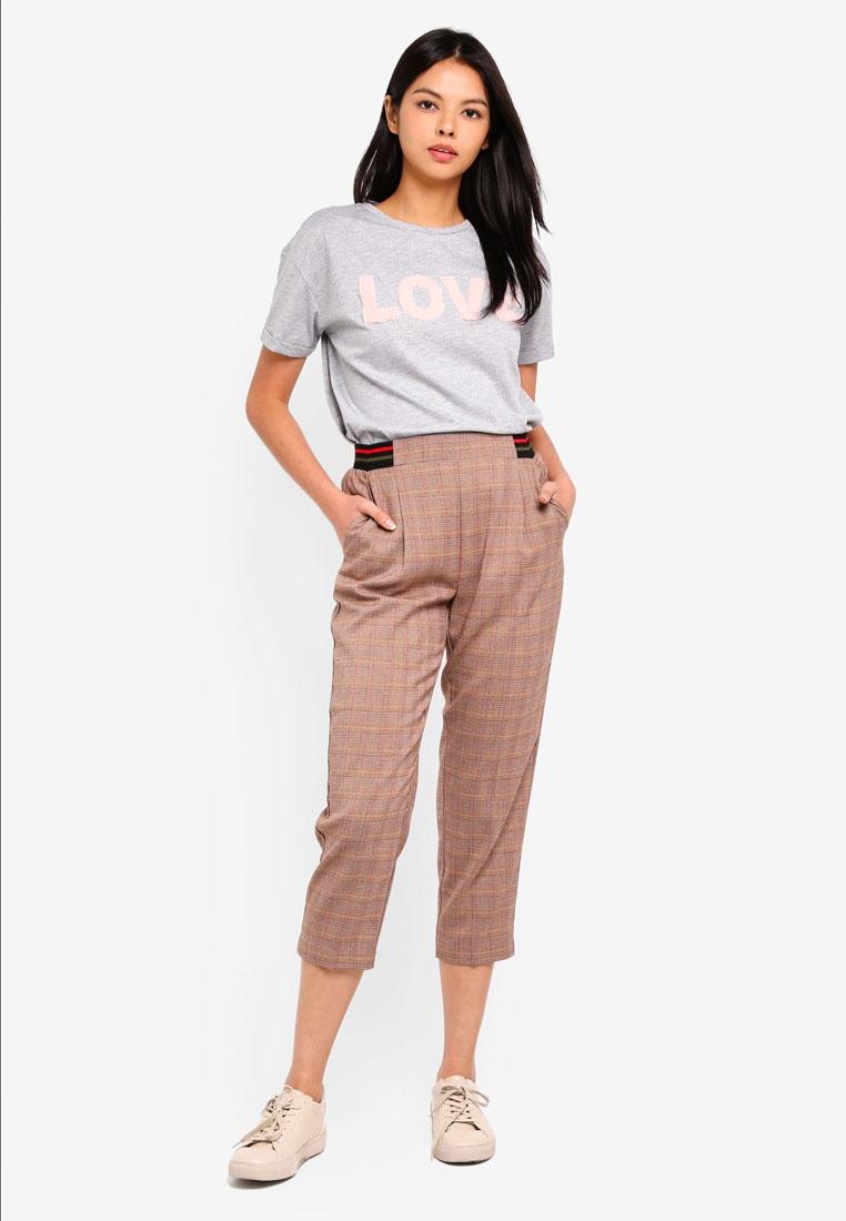 ESPRIT Brown Check Pants Length Service HcHqr4