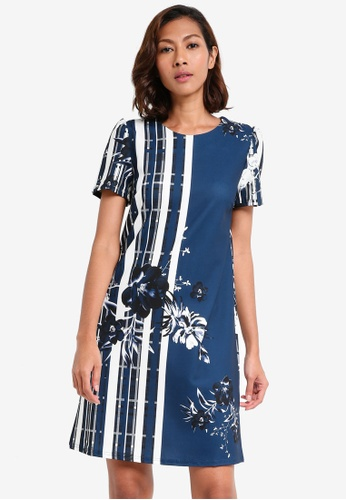 Dorothy Perkins navy Floral Shift Dress 9BB9CAA8E8E88AGS_1