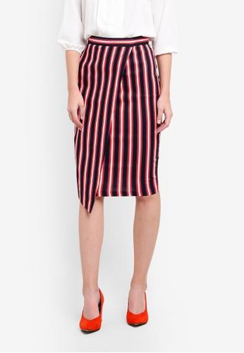 Vesper navy Molly Asymmetrical Pencil Skirt VE733AA0S79GMY_1
