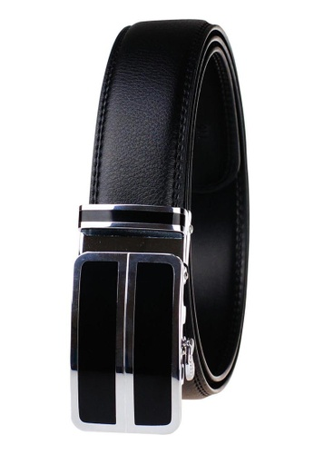 FANYU silver Leather Dress Belt With Automatic Buckle belt 9357CAC07C3DACGS_1