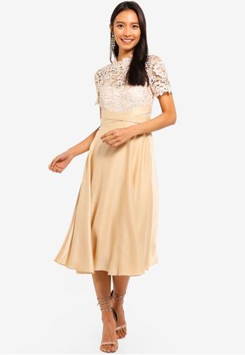 Little Mistress beige Beige Crochet Midi 041BCAACFAA49DGS_1