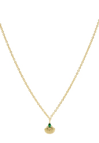 Dear Addison gold Emerald Sea Necklace 4A0D4ACEE98739GS_1