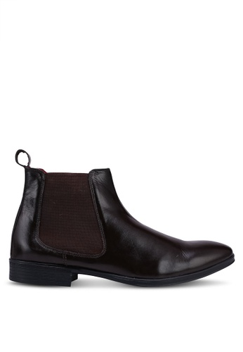 Acuto brown Leather Chelsea Boots 28007SHAB8E530GS_1