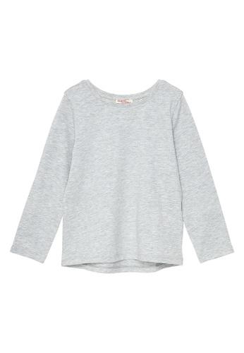 Du Pareil Au Même (DPAM) grey Plain Long Sleeve T-shirt FE074KA51434A2GS_1