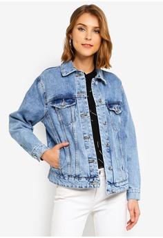9bbbf74b0ad7a Vero Moda blue Katrina Long Sleeve Loose Jacket A7EA7AAD5B89D8GS 1