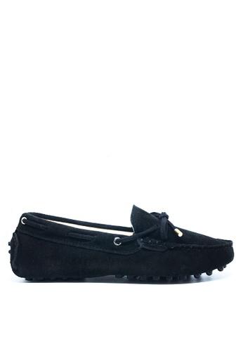 Twenty Eight Shoes 黑色 女裝真猄皮豆豆鞋M99 02DD4SH3220AC3GS_1
