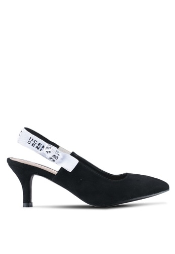 Something Borrowed black Ribbon Slingback Heels AD2EFSH15D3118GS_1