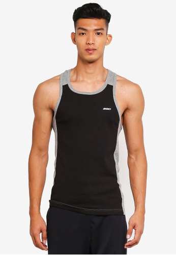 2GO grey Color Block Sports Performance Vest 2G729AA0S606MY_1