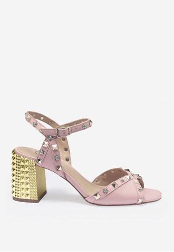 ASH pink Saint - Pink Elastic Band Sandals CC4B7SH5D025ABGS_1