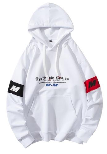 Trendyshop white Printed Hoodies D2B99AAA5B8860GS_1
