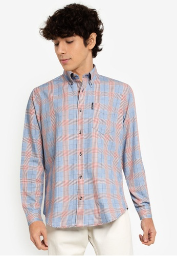 Ben Sherman blue Laundered Check Shirt E6F9BAA30FC852GS_1