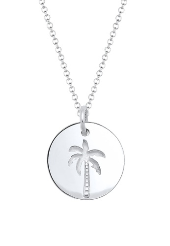 Elli Germany silver Elli Germany Palm Tree Coin Silver Necklace EL474AC56OKXMY_1