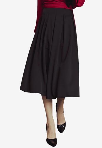 Kodz black Trendy Full Midi Skirt 00773AA57D7162GS_1