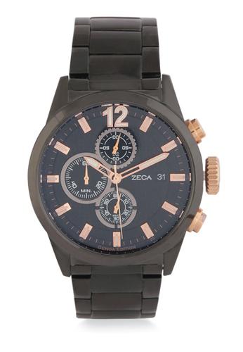 ZECA black Zeca Watches Men Fashion Stainless Steel Analog - 2010MA Black Rosegold ZE074AC0WDAYID_1