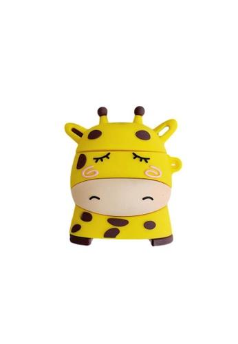Kings Collection yellow Cute Giraffe AirPods Case (UPKCAC2082) 31BDCACA42E6E8GS_1