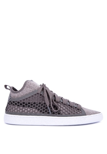 Puma grey Basket Classic EverFit Sneakers 6E40FSHA6B2779GS_1