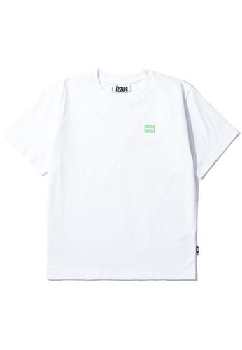 izzue white Reversed open back tee FD49BAA0EAB425GS_1