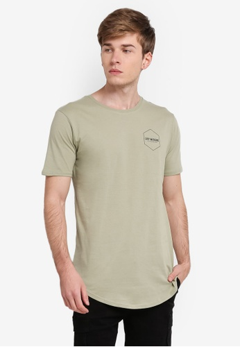 Factorie green Curved Tail Tee FA880AA0SKLNMY_1