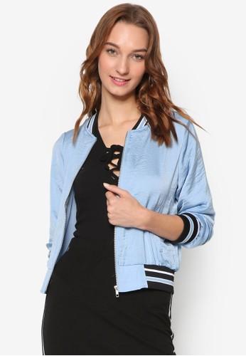 條紋羅紋棒球外套, esprit 京站服飾, 外套
