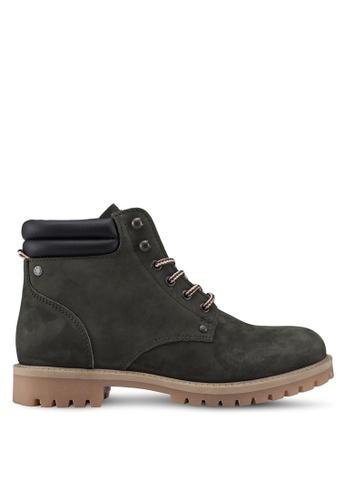 Jack & Jones green Stoke Nubuck Boots 8FB51SH12E1235GS_1