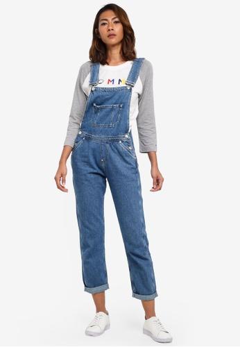 6018ce57f9 Buy Tommy Jeans TJW REGULAR DUNGAREE Online on ZALORA Singapore