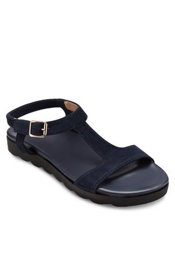 T 字帶繞zalora 心得 ptt踝涼鞋, 女鞋, 涼鞋