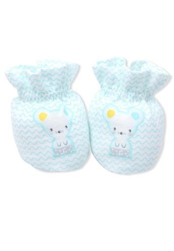 Organic mom blue Blue Foodie Mouse Socks (SPRING) 9B48AKA4E9EE68GS_1