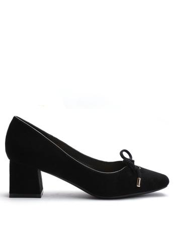 Twenty Eight Shoes black Suede Fabric Mid Heel 1280-2 7F2E5SH5500DECGS_1