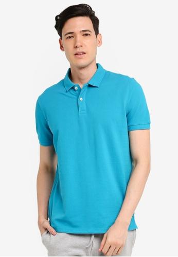 OVS 藍色 Basic POLO衫 3725CAA8B36F23GS_1
