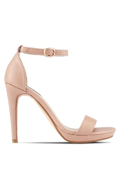 ZALORA brown Ankle Strap Heels 81455SH0121F94GS_1