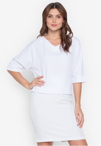 Lifestyle by Attitudes white Dabria Blouse 258CAAAB13426AGS_1