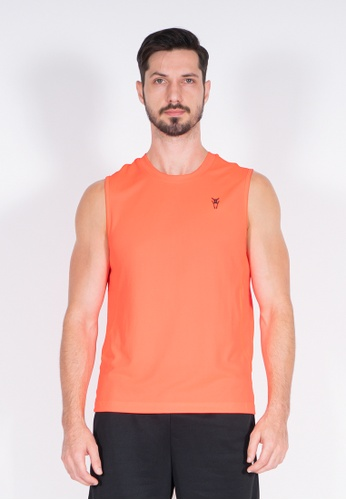 AMNIG orange Amnig Men Training Sleeveless Top (Red Blast) 13EA6AA1D88CE5GS_1