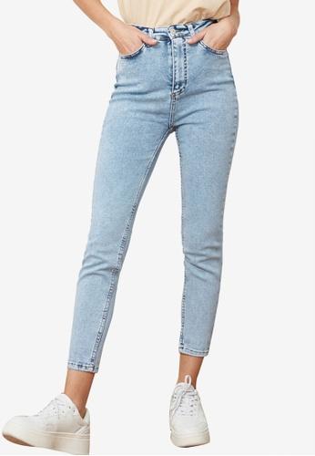 Trendyol blue High Waist Skinny Jeans BD7A3AA6330CABGS_1